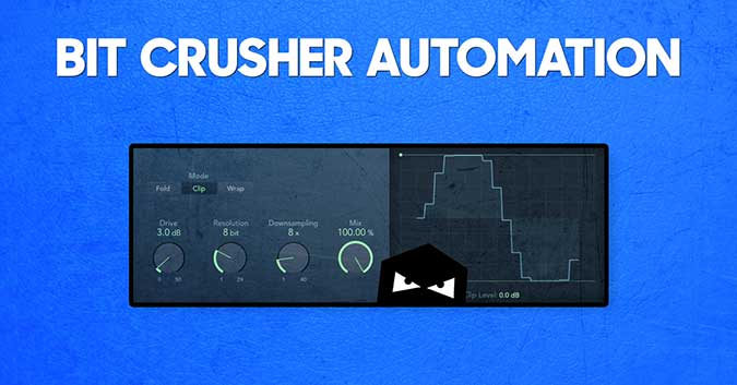 Audiotent music production tips bit crusher automation