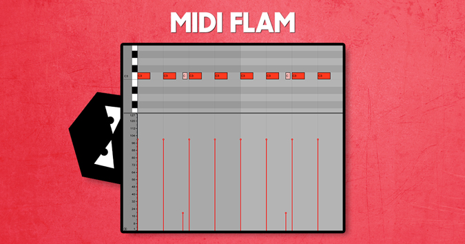How to program midi flams for your drums and drum fills