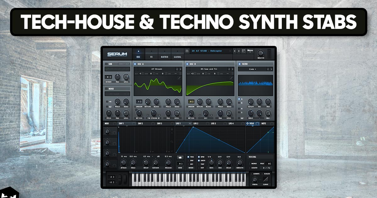 How to create tech house techno synth stabs audiotent for Classic house synths