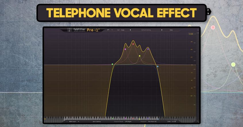 how to create a telephone vocal effect audiotent music production tips. Black Bedroom Furniture Sets. Home Design Ideas