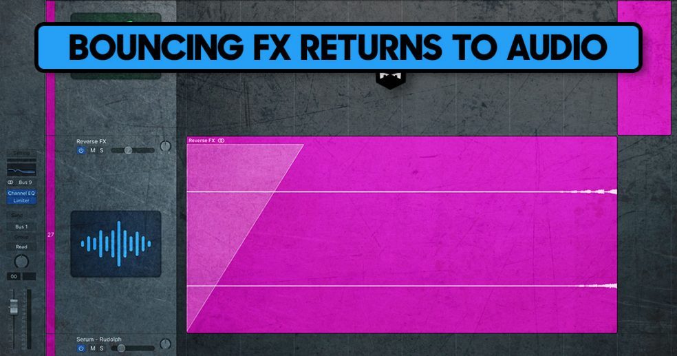Bouncing FX returns to audio