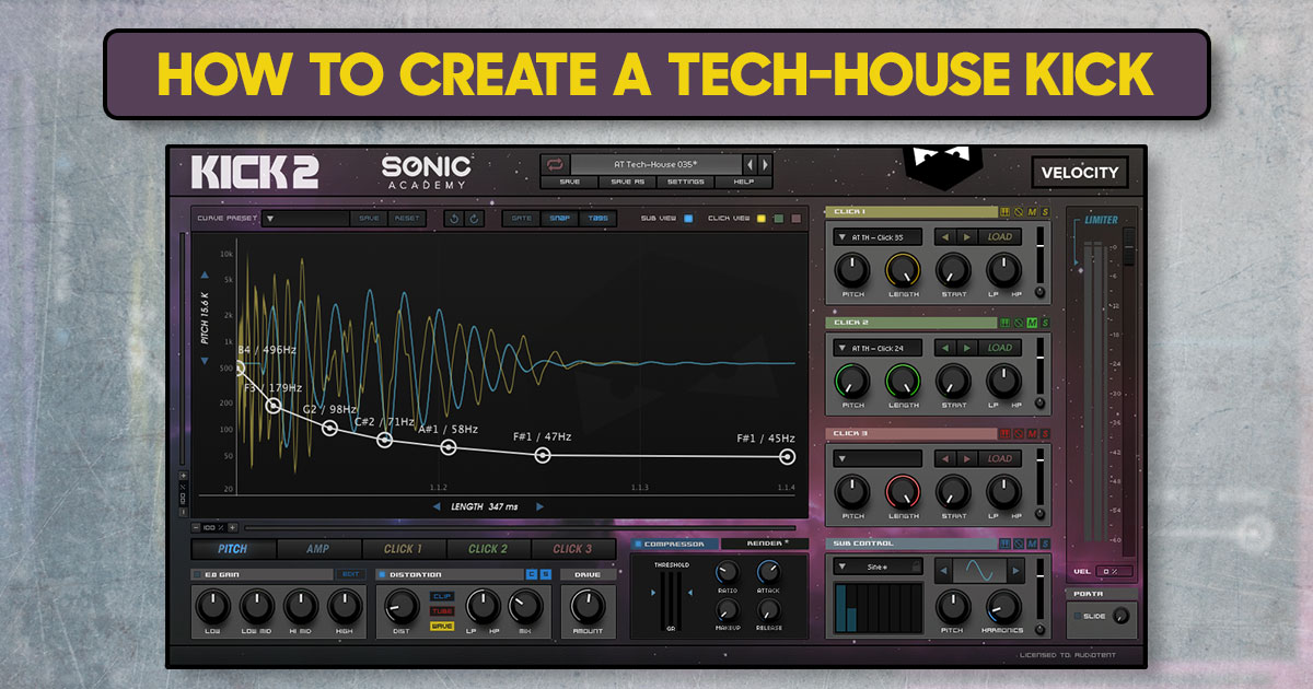 How to create a tech-house kick