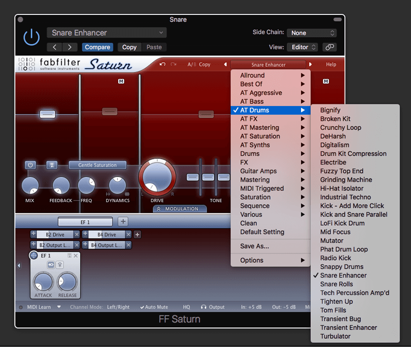 Saturn Snare Enhancer